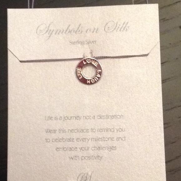 Symbols On Silk Jewelry Sterling Silver Necklace Poshmark